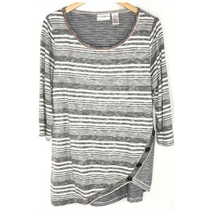 Drapers & Damon's Knit Tunic with Button Details